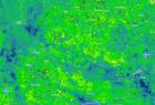 Obraz satelitarny obszaru badań w kanale termalnym