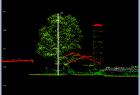 Pomiar wysokości drzewa z użyciem LP360 Viewer.