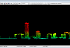 Przekrój poprzez chmurę punktów w oprogramowaniu LP360 Viewer.