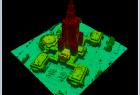 Model 3D TIN Pałacu Kultury w oprogramowaniu LP360 Viewer.