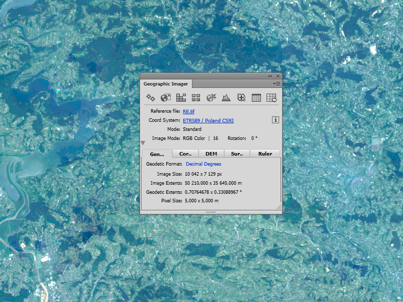 Panel Geographic Imager